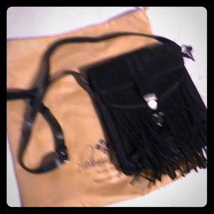 Patricia Nash Black suede cross body bag